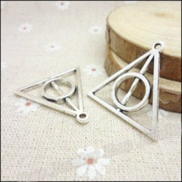 Coin Bracelet Jewelry Wholesale Canada - 25 pcs Vintage Charms Triangle Pendant Antique silver Fit Bracelets Necklace DIY Metal Jewelry Making jewelry display necklace