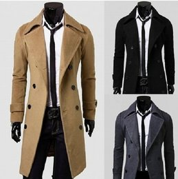 Men Dark Brown Trench Coat Online | Men Dark Brown Trench Coat for ...