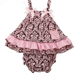$enCountryForm.capitalKeyWord Canada - Summer Baby Set Girls Flower Ruffles Bowknot Tank Tops PP Shorts 2pcs Outfits Kids Toddler Baby Sets Cotton Sport Infant Clothes 11208