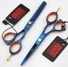 Hair Cutting Scissors Razors Canada - 715# 5.5'' Top Quality Japan Kasho Hair Scissors Set,Professional Salon and Home Hair Razor,Hair Cutting and Thinning Shears,Custom Logo