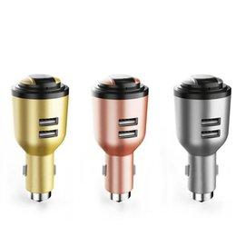 Ivlwe 3 em 1 dual usb carregador de carro inteligente sem fio bluetooth 4.1 fone de ouvido fone de ouvido de emergência martelo seguro microfone embutido para tablet telefone móvel