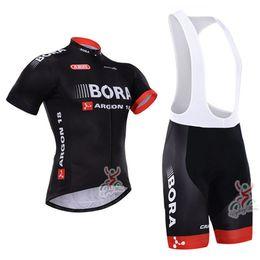 Wholesale-2015 Bora Argon 18 Short Sleeve Cycling Jersey Bicicleta Ropa  Ciclismo Outdoor Mountain Bike Jersey + Cycling (Bib) Shorts Kit 603450505