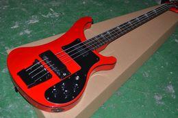 Bass guitar red Black online shopping - 4003 BASS Bright red bass string bass Black Hardware Electric Bass Guitar Chinese Guitars bass