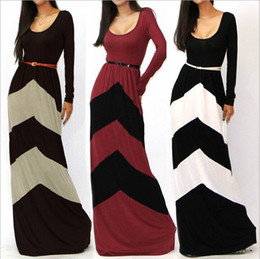 plus size maxi dress xxl 2019 - Plus Size XXL New Summer Dress 2016 Women Casual Maxi Dress Color Block Long Sleeve Pleated Novelty Floor Length Long Dr