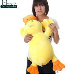 stuffed plush yellow duck NZ - Dorimytrader 30''   75cm Super Lovely Stuffed Soft Plush Cute Giant Cartoon Duck Toy, Nice Gift for Babies, Free Shipping DY60730
