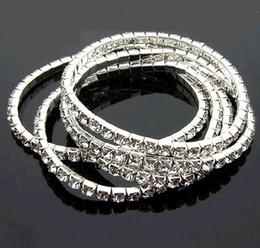 $enCountryForm.capitalKeyWord Canada - Combination Bracelet Silver Row Rhinestones Tennis Shiny Crystal Stretch Elastic Chain European Star Style Charms Bracelets Fashion Jewelry