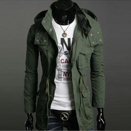 Military Green Hooded Mens Jacket Online   Military Green Hooded ...