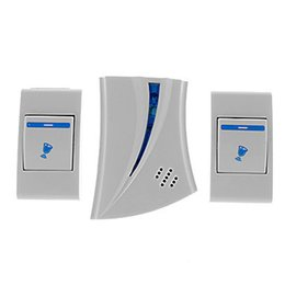 Chinese  Home Entry Access Control DoorBell Chime Doorbells Wireless Remote Control Alarm Music 2 Button manufacturers