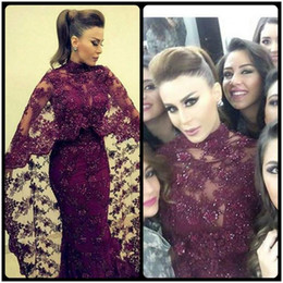 China 2018 New Abaya In Dubai Purple Lace Evening Dresses Mermaid Muslim Arabic Celebrity Party Gowns New yousef aljasmi Kaftan Dress 218 supplier dubai celebrities abaya suppliers