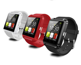 Wholesale Bluetooth Smart Watch U8 Watch Wrist Smartwatch for iPhone S S S plus Samsung S4 S5 Note Note HTC Android Phone Smartphones
