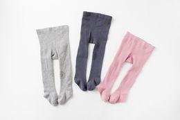 Baby Cotton Winter Tights Pants UK - Baby Girls Pantyhose Ins Toddler Kids Cotton Leggings Little Girls Knee Printed Princess Dress Bottomings Fashion Newborn Tight Pants
