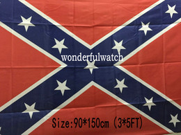 Discount civil war battle flags - 100pcs Confederate Flag Confederate Battle Flags Two Sides Printed Flag Confederate Rebel Civil War Flag National Polyes