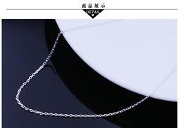 S925 Sterling Silber Kreuz Halskette O Wort Frau Korean Korean Schmuck Großhandel Schmuck Vintage-Schmuck im Angebot