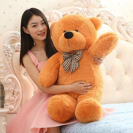 quality plush toys Australia - High quality teddy bear Plush toys 80cm teddy bear embrace bear doll  lovers christmas gifts birthday gift