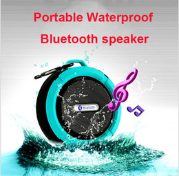 $enCountryForm.capitalKeyWord Australia - IPX7 Waterproof Speaker C6 Bluetooth Mini Sound Box Hook Suction Cup Wireless Microphone Hands-free Sports Super Base Free DHL