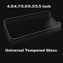 wiko tempered glass 2019 - Universal 4.5 4.7 5.0 5.3 5.5 inch Premium Real Tempered Glass Film Screen Protector For ALCATEL WIKO iPhone