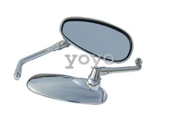 Хромированные боковые овальные зеркала заднего вида для мотоциклов за 2000 тень ACE 750 VT750CD Deluxe