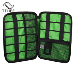 Accessories Pouches Canada - Wholesale- TTLIFE Waterproof Electronic Accessories Storage Bag Carry Protection Pouch Organiser for Headphone Cable U Disk HDD SD Card