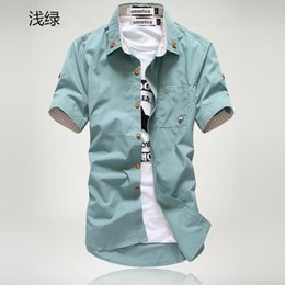 Discount Mens Short Sleeve Button Up Shirts | 2017 Mens Short ...