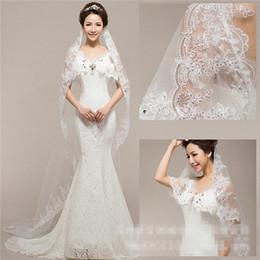 $enCountryForm.capitalKeyWord NZ - Long Veil Fashion Bride High-grade Sequins Ornament and Lace Ivory Veil Hot Bride Elegant White Bridal Veil