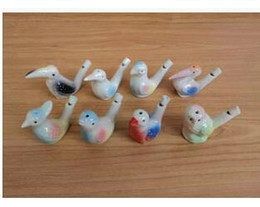 Chinese  wholesale dropship new arrival water bird whistle clay bird ceramic Glazed bird whistle-peacock Birds Free Shipping manufacturers