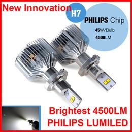 White Lamp H7 Canada - 2 SETS H7 45W 4500lm LUMILED Headlight Single Beam Headlamp Driving Fog White Bulb Universal 12 24V 90W PAIR H4 H13 9004 9007 H8 H16 LED Kit