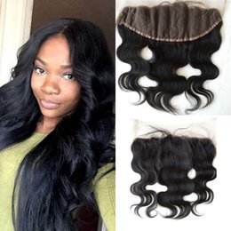 Fast unprocessed human hair online shopping - Mongolian virgin unprocessed human hair lace frontal closure x4 with fast shipping no shedding body wave closure frontal cheap G EASY HAIR
