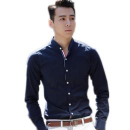 Navy Blue Dress Shirt Men Online | Navy Blue Dress Shirt Men for Sale