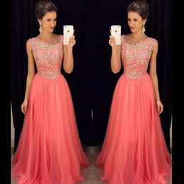 Coral Bridesmaid Dresses Rhinestones Online | Coral Bridesmaid ...