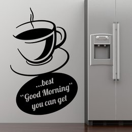 Coffee Cup Wall Stickers Dining Room Decoration Best Good Morning You Can Get Quote Vinyl Home Decals