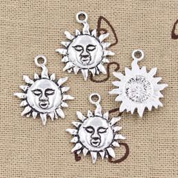 $enCountryForm.capitalKeyWord Canada - 100pcs Charms sun 23*19mm Antique,Zinc alloy pendant fit,Vintage Tibetan Silver,DIY for bracelet necklace
