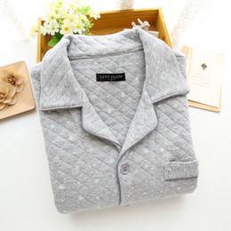 Air Pants Canada - Men's pure cotton air layer home wear, autumn and winter snowflake warm pajamas, long sleeve pants, home wear, pajamas set