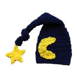 Crochet Baby Star NZ - Crochet Baby Moon and Star Hat,Handmade Crochet Newborn Elf Hat,Baby Boy Girl Longtail Hat,Kids Winter Hat,Infant Toddler Photo Prop