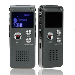 Vor Digital Voice Recorder Canada - Wholesale-Free Shipping 8GB USB VOR Rechargeable Digital Audio Voice Recorder 650Hr Dictaphone MP3 Player Silver&Gray