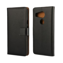 Lg Nexus Leather Case UK - Wholesale High Quality Black Genuine Leather Wallet Case Cover For LG Nexus 5X with Stand Style and Card Holder Phone Bag Free