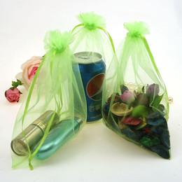 $enCountryForm.capitalKeyWord Canada - 17x23cm Light Green Drawable Organza Jewelry Bags Bolsas Pequenas Chiffon Gift Bags Customize Packaging Bags500pcs lot Wholesale