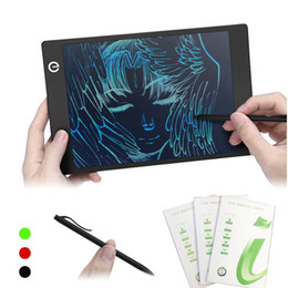 $enCountryForm.capitalKeyWord Canada - 9.7 Inch Colorful LCD Writing Tablet Drawing Board Portable Thin Handwriting Pad Paperless Graphic Tablets with Stylus Pen Kids Gift