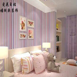 $enCountryForm.capitalKeyWord NZ - 10M roll mix color stripe wallpaper High quality PVC wall paper decor for living room bedroom background