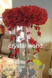 Wholesale only mental stand Acrylic Crystal Wedding Centerpiece Table Centerpiece Free Ship Wedding Decor