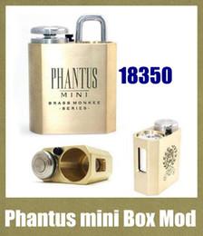 Discount vape box mini - Phantus mini box mods vape mod brass monkey for 18350 battery mech mods vapor mechanical vaping box mod fit rda atomizer