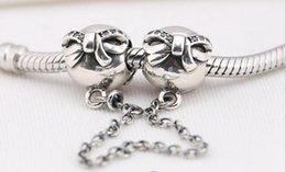 Lose Perlen für Pandora Charms Armband 100% 925 Sterling Silber Perlen Bow Ball Sicherheitskette mit CZ DIY Charms Schmuck 1PC / LOT