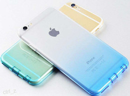 color changing iphone 2019 - For iPhone 6 6S 6plus Soft Ultra Thin Color Gradual color Change TPU Case with dust proof and camera lens protect