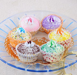 Cupcakes Mix Canada - FREE SHIPPING 24pcs-7cm squishy ice cream cupcake model mix color wholesale