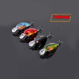 Saltwater Mini Hard Bait Canada - 4 Colors Trulinoya DW24 35mm 3.5g 1.2m Mini Crank Fishing Lure Hard Bait with BKK Hooks Red