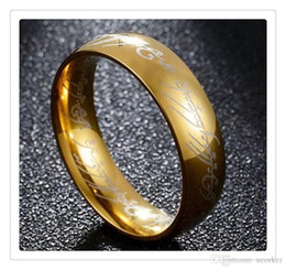$enCountryForm.capitalKeyWord NZ - 2017 Hot Gold Plated Stainless Steel Hobbit And Lord of the Ring Band Wedding Engagement Cocktail Size 6 -13 Christmas Gifts
