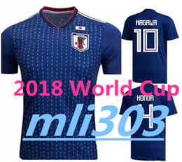 234a9af39 Best quality 2018 World Cup Japan home blue soccer jersey OKAZAKI KAGAWA  HASEBE NAGATOMO 17 18 Japan kits football shirts