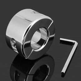 $enCountryForm.capitalKeyWord Australia - 980G(35oz)Extreme Stainless Steel Polish Ball Stretcher Men Fetish Cock Ring Gear Scrotum Testicle Stretched Cuff Sex Toy BDSM