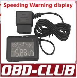 Volvo Lcd Canada - 2015 LED Car HUD Head Up Display With OBD2 Interface Plug & Play car Speeding Warn System lcd W01