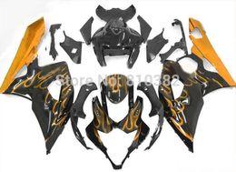 Gsx R Fairing UK - 2015 motorcycle fairing kit for SUZUKI GSXR 1000 05 06 GSX-R GSXR 1000 K5 2005 2006 Golden flames black trim parts
