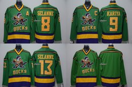 $enCountryForm.capitalKeyWord Canada - 2015 Newest Wholesale Men's Anaheim Ducks #8 selanne#9 kariya #13 selanne Blank green Throwback Jersey Ice Hockey Jerseys
